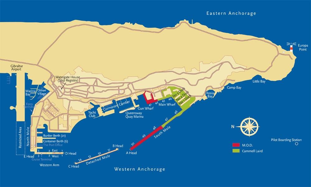Medport Shipping Services Ltd Gibraltar Port Main Map